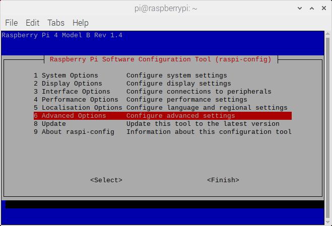 Raspberry Pi Configuration Terminal